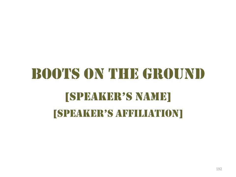 [Speaker's affiliation]